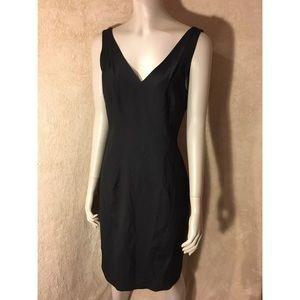 Theory Black Midi V-Neck Dress *NWT*